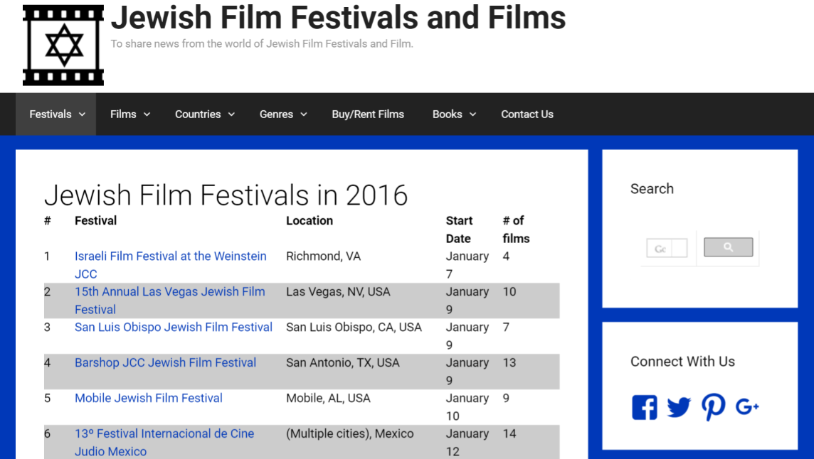 Jewish-film-festivals design